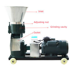 High Quality 220v 3kw 3mm Chicken Feed Pellet Gears Mill Machine For Farm Animal