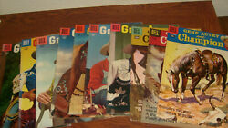 10 Vintage Dell Gene Autry And Champion Comics Most Vg+ And Fine