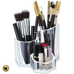 Clear Makeup Organizer Drawers Brush Holder Acrylic Storage Case Box Cosmetic $12.99