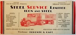 Ink Blotter Paper Steel Service Limited Tractor Trailer Wagon 1930/1940s  E1b