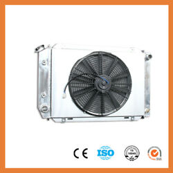 For Ford Mustang 80-93 Automatic Manual 3 Rows Aluminum Radiator + Fan Shroud