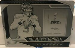 Russell Wilson - 2019 Panini Plates And Patches Raise The Banner Black Plate 1/1