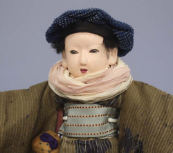 Antique Japanese Ichimatsu Doll 13.3 Inches 久徳正 The Meiji Period Japanese Doll Y