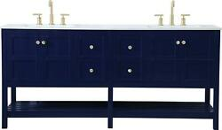 Bathroom Vanity Sink Traditional Antique Double Blue Gold Metal Stone Soli