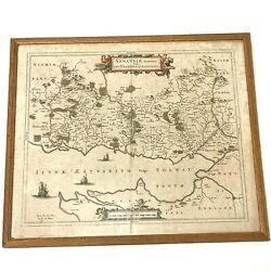 Blaeu / Pont Antique Map 'annandale' Solway Firth 17th Century - Spanish Edition