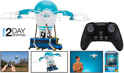 Fortnite Battle Bus Drone Remote Control Game Authentic Lights Detailed Decorate