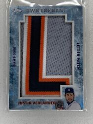 2015 Topps Update Own The Name Justin Verlander 1/1 Patch Otn-jve