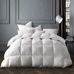 Globon White Goose Down Comforter Queen/full Size 50 Oz Fill Weight 700 Fill P