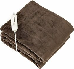 Tefici Electric Heated Blanket Throw With 3 Heating Levels And 4 Hours Auto Offsu