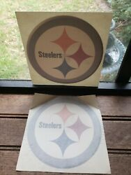 Lot Of 2 Pittsburgh Steelers Nfl Football Color Logo Sports Decal Stickers