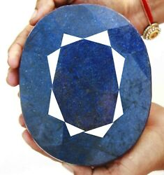 Christmas Offer 22920 Ct Certified Natural Blue Sapphire Big Size Gemstone