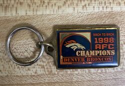 Denver Broncos Back To Back 1998 Afc Champions Key Chain 500 + 10.00 Shipping
