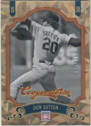 Don Sutton /299 Cooperstown Crystal Cracked Ice Collection Dodgers Hof 12 2012