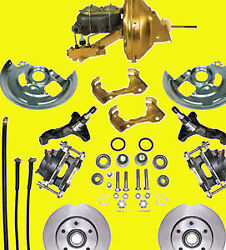 Gm Power Disc Brake Kit A And F Body Brakes Front F X A Body Basic Kit Spindle