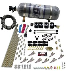 Nitrous Express 80018-12 Std Nozzle System 2000 Gas W /dist. Block And 4 Solenoids