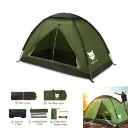 2020 Waterproof Backpacking Tent for 1 2 Person Hiking Camping Tent Sun Shelter $42.84