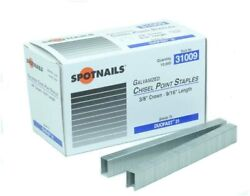 Spotnails 31006ss 3/8 304ss 22 Ga Chisel 3/8 Crown Fine Wire Staples 200m