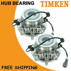 2x Timken Front Wheel Hub And Bearing For Nissan Frontier Pathfinder Xterra 2wd