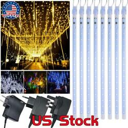 30/50cm Led Lights Meteor Shower Rain Tube Snowfall Tree Outdoor Xmas Decoration