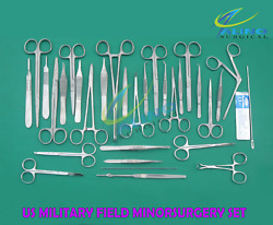112 Pc Us Military Field Minorsurgery Surgical Veterinary Dental Instruments Kit