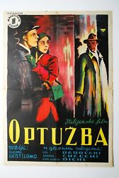 Charge For Murder Italian 1950 Crime Mystery Rare Exyu Movie Poster