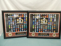 Pair Of Highland Mint On The Fifty Superbowl Collection One W/50th Ticket And Not