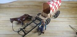 Vintage Purina Covered Wagon Battery Operated Action Toy Damaged Read Descriptio
