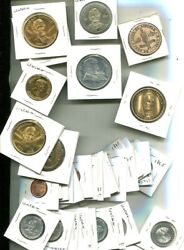 Abraham Lincoln Medal Token Lot Of 36 10 Different
