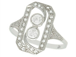 Antique 0.63 Ct Diamond And 18 Carat White Gold Dress Ring 1920s Size Q