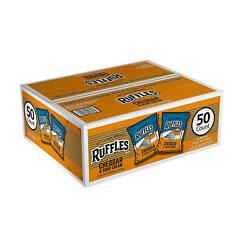 Ruffles Cheddar And Sour Cream Potato Chips 1oz / 50ct Fast/free Shipping