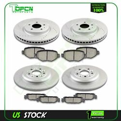 For Ford Explorer Ford Flex Lincoln Mkt Brake Ceramic Pad And Rotor Front And Rear