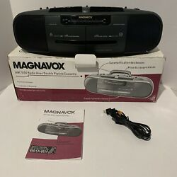 New In Box Magnavox Aw7050 Dual Cassette Am/fm Stereo High Speed Dubbing Boombox