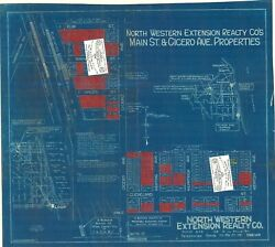 Chicago Area Antique 1924 Ad Map Of Part Of Skokie Main St. And Cicero, Repro