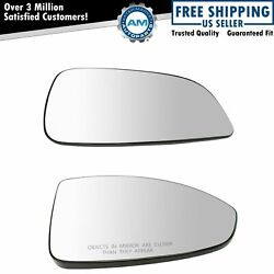 Exterior Side View Mirror Glass W/backing Plate Pair Lh And Rh Set For Aura Malibu
