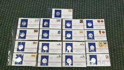 1977 Postmasters 25 Gram Sterling Silver Medal First Day Covers 17 Pieces