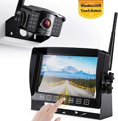 Wireless Car Backup Camera 7 Monitor Rear View Parking Fhd System Night Vision