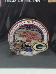 Green Bay Packers Vs Chicago Bears Game Day Pin 11/12/17 Military Appreciation