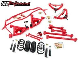 Umi Gbf002r 1978-1988 Gm G-body Handling Kit Package Red 1 Lowering   Stage 2