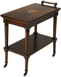 Serving Cart Kitchen Traditional Antique Plantation Cherry Distressed