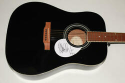 Adam Clayton Signed Autograph Gibson Epiphone Acoustic Guitar - U2 Very Rare