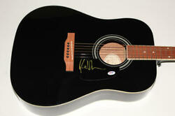 Ray Lamontagne Signed Autograph Gibson Epiphone Acoustic Guitar - Trouble Psa
