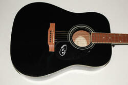 Miley Cyrus Signed Autograph Gibson Epiphone Acoustic Guitar - Plastic Hearts