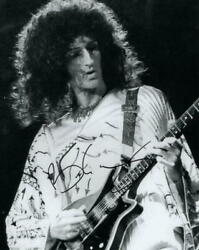Brian May Signed Autograph 8x10 Photo Queen Guitarist A Night At The Opera Acoa