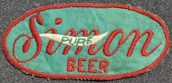 Vintage Pure Simon Beer Advertisement Sew On Embroidered Patch