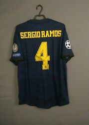 Sergio Ramos Real Madrid Jersey Authentic 2019 Size Xl Shirt Dw4446 Ig93