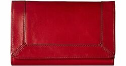 HOBO Red CONVEY Leather Folding Wallet $32.00