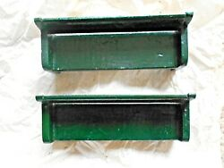 2-vintage O Scale Wood 4-1/2 L Green Benches For Train Layout