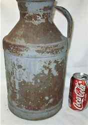 Antique New England Country Kydds Dairy Lowell Massachusetts Metal Milk Can Jar