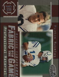 1999 Leaf Certified Fabric Of The Game Football Card Fg46 Peyton Manning/1000