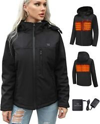 Topleads 2020 Upgrade Heated Jackets With Battery Pack Outdoor Heated Coat Men W